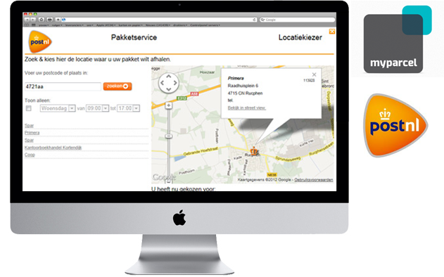 PostNL PakjeGemak webshop integratie image