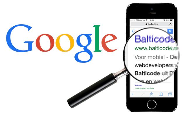 Mobiele website voor Google image
