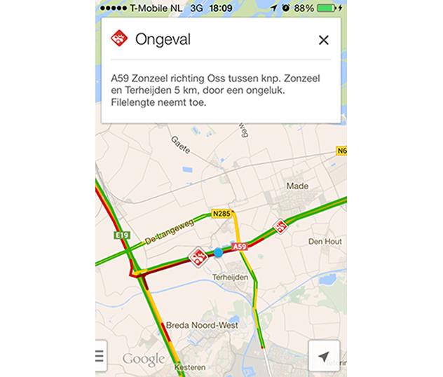 Verkeersinformatie in Google Maps met Waze image